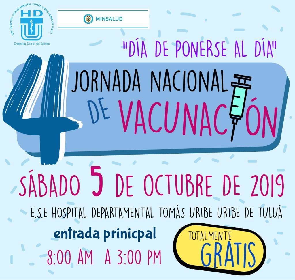 Jornada nacional de vacunación totalmente gratis